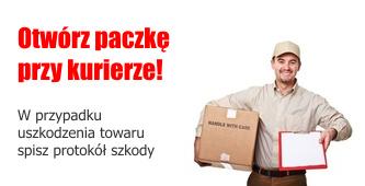 Otwórz paczkę przy kurierze!
